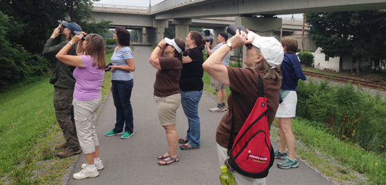 Participants at a Lycoming Audubon Society walk